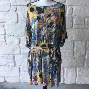 Easel / Anthropologie Floral Caftan Dress